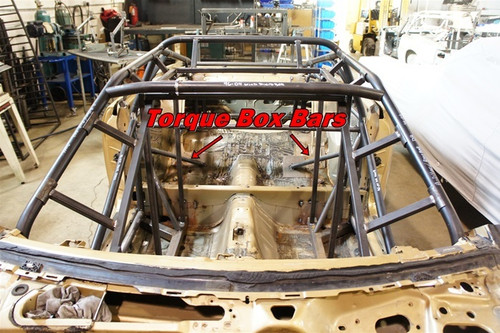 Torque Box Bars for 1994-2004 Mustang Cage Kit
