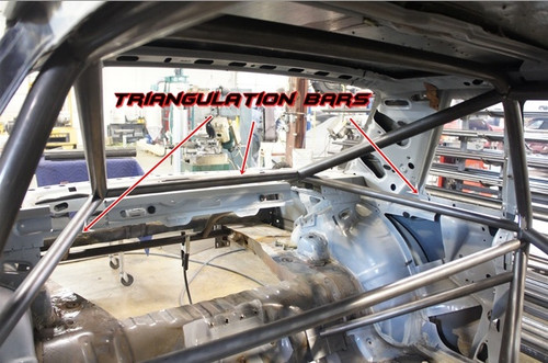 Triangulation Bars for Team Z Cage Kit 1979-1993 Mustang