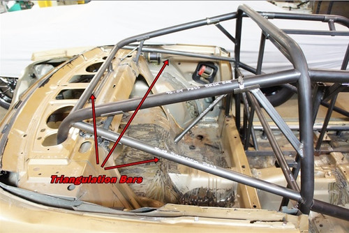 Triangulation Bars for Team Z 1994-2004 Mustang Cage Kit