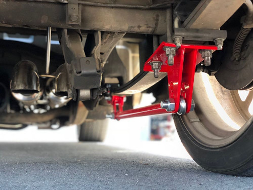 1999-2018 Silverado & Sierra Traction Bars (Standard Axle Position Trucks) Red