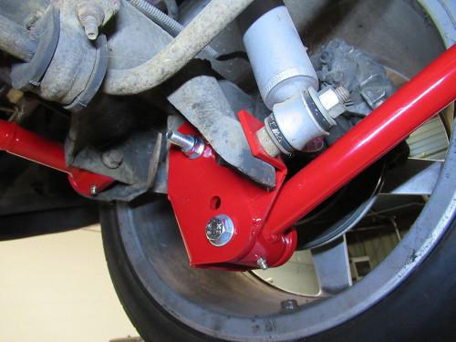 1993-2002 Camaro & Firebird Lower Control Arm Relocation Brackets (Red)