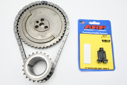 97-04 Performance Timing Chain Set with 1-pole 3 Bolt Cam Sprocket, ARP Cam Bolts, Crank Gear, Timing Chain Single Pole and Fits 4.8 5.3 5.7 6.0 LS1 LS6 LQ4 LQ9 LM7 L59 LS4