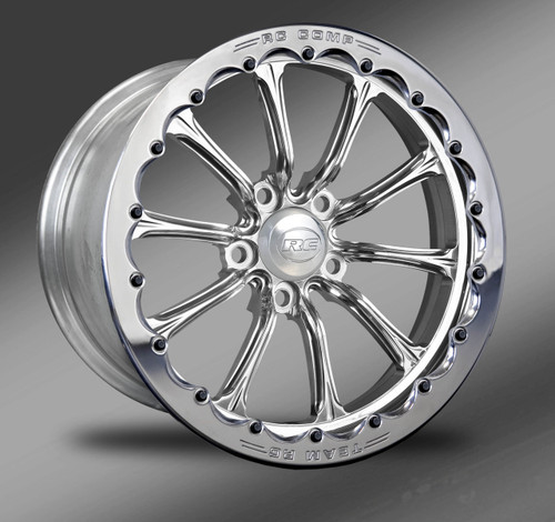 Exile-S Polished finish with polished beadlock ring, Street Fighter Wheels