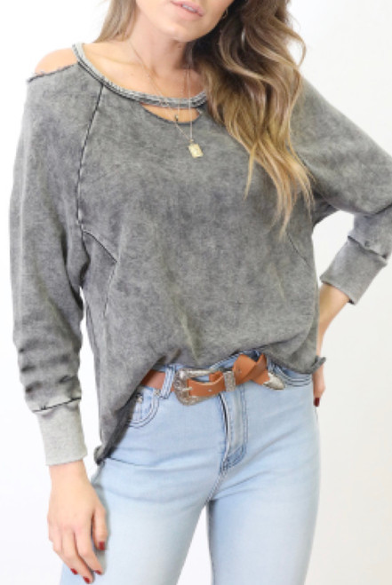RE GREY VINTAGE TOP