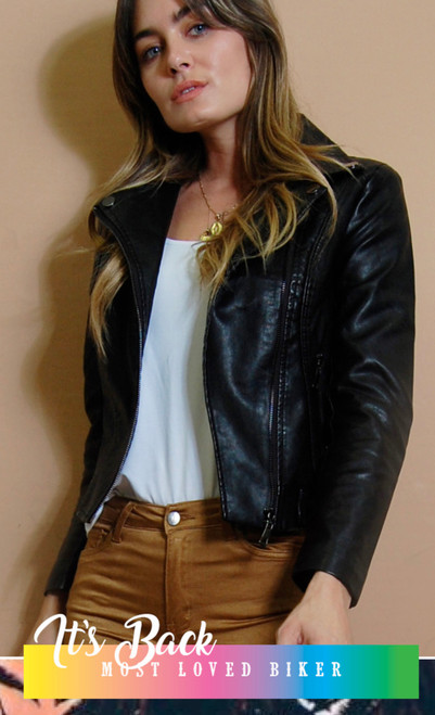 RE BIKER JACKET BLK