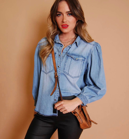 RE DENIM SHIRT WITH SLEEVES