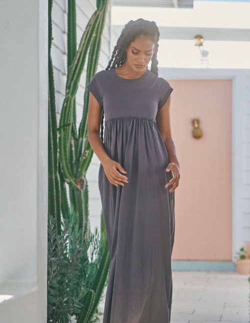 JA CHARCOAL WANDERER MAXI DRESS BASIC