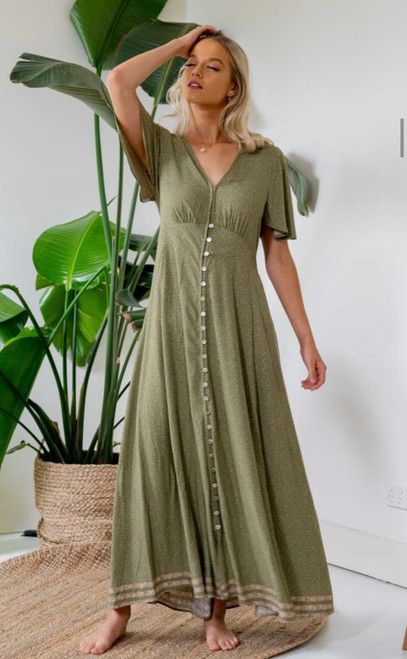 IM KHAKI EARTH SIMPLE MAXI