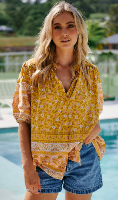 JAASE YELLOW FLORAL TOP