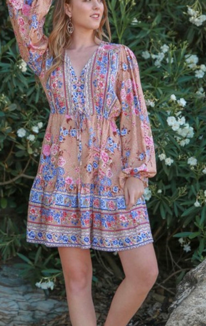 SB BROWN FLORAL DRESS