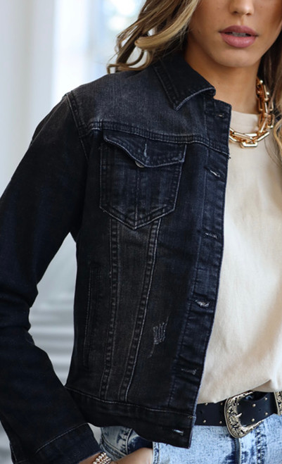 RE BLACK DENIM JACKET