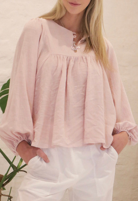 SS COTTON PINK TOP