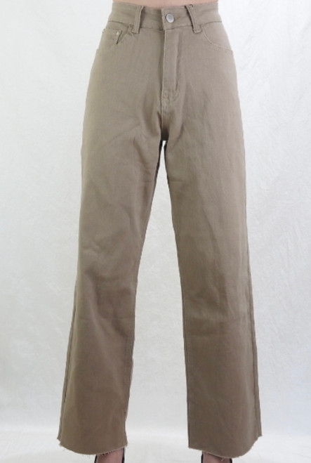 CD STRAIGHT CUT TAUPE JEANS