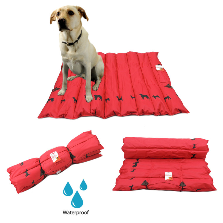 Red Dog Puppy Pet Travel Mat Soft Portable Soft Hand Washable