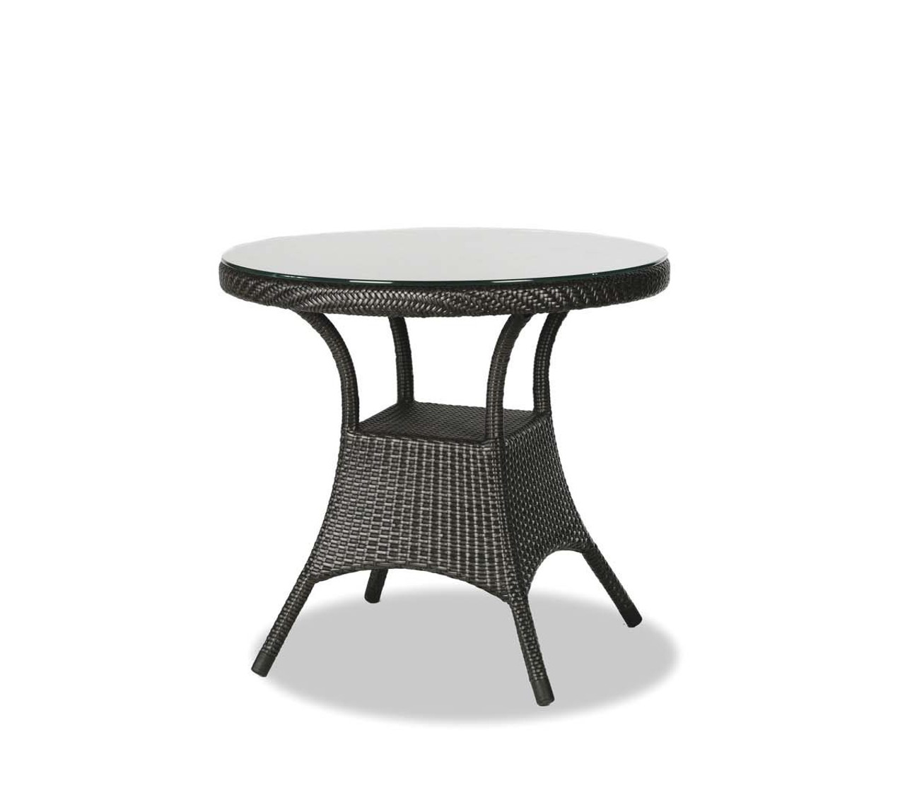 Palm Harbor 32 Round Dining Table W Clear Glass Zing Patio