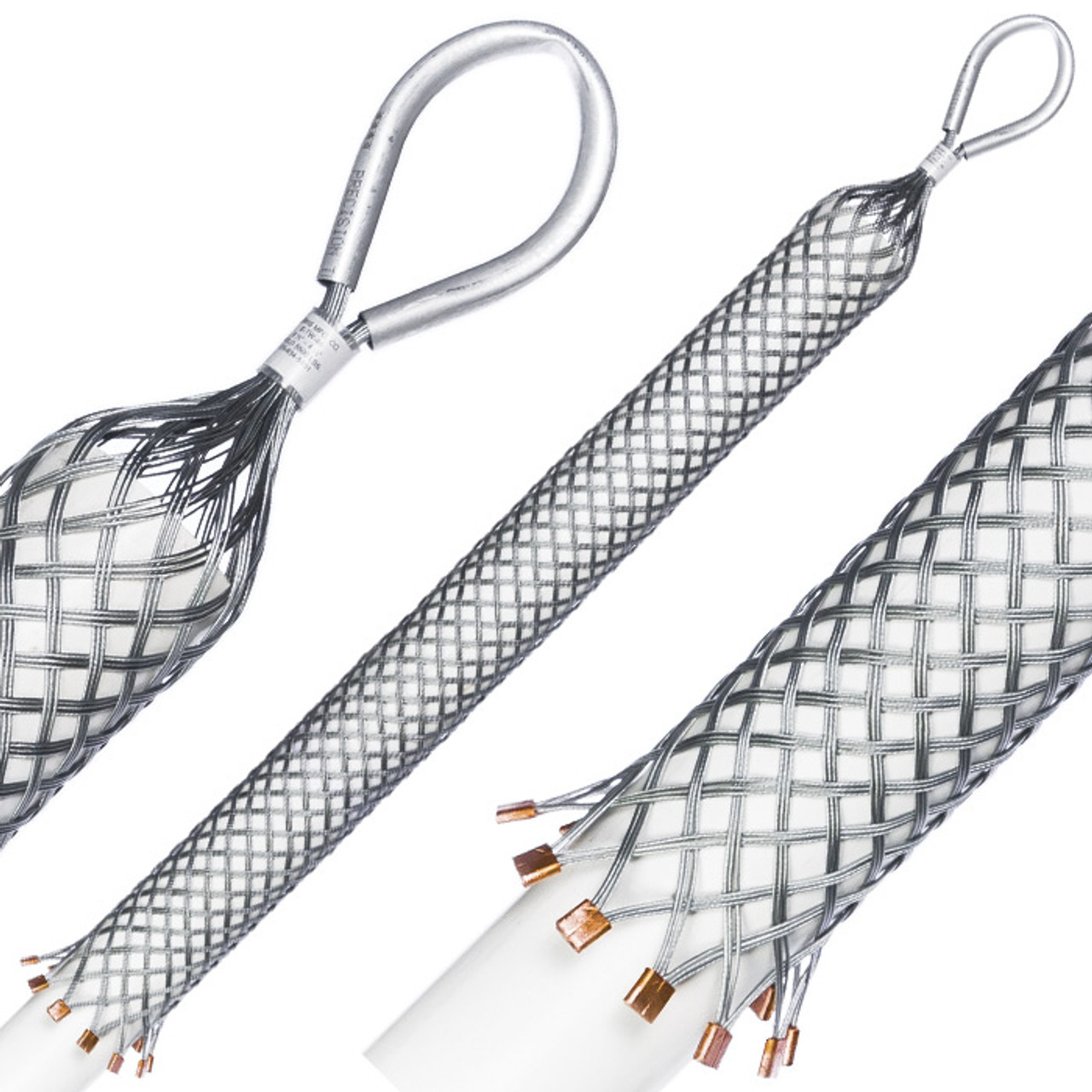 """1 1/4""""-2"""" Wire Mesh Pipe Puller"""