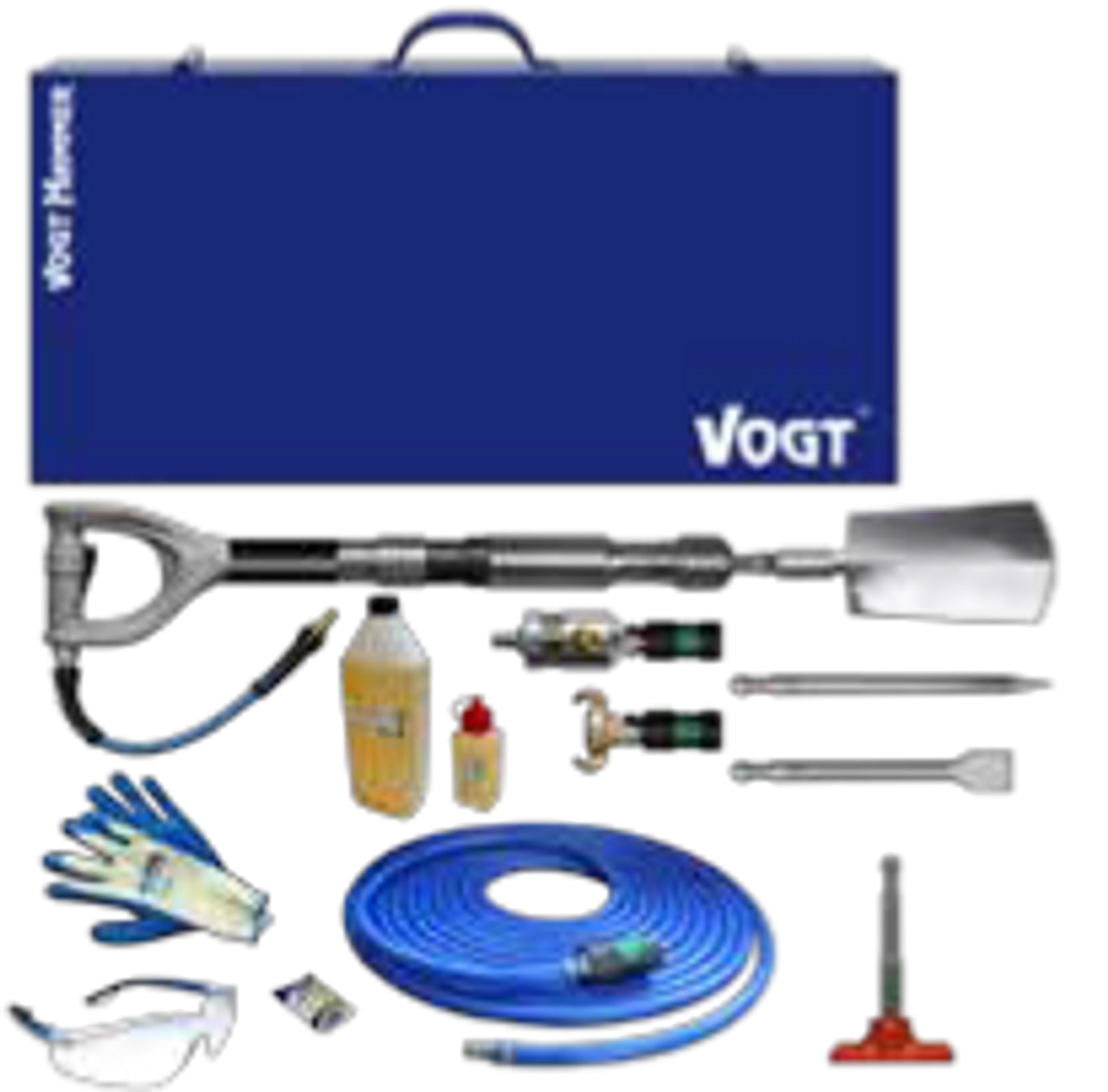 VOGT with Delta-handle combines all benefits of the T-handle and inline handle.  where vertical and horizontal excavation works need to be done, it is well accepted as an all-rounder. The aluminium-handle fits well in the hand because it´s completely cast out of one piece and connected to the stick and hammer mechanism. Compact construction and weight distribution simplifies working.
