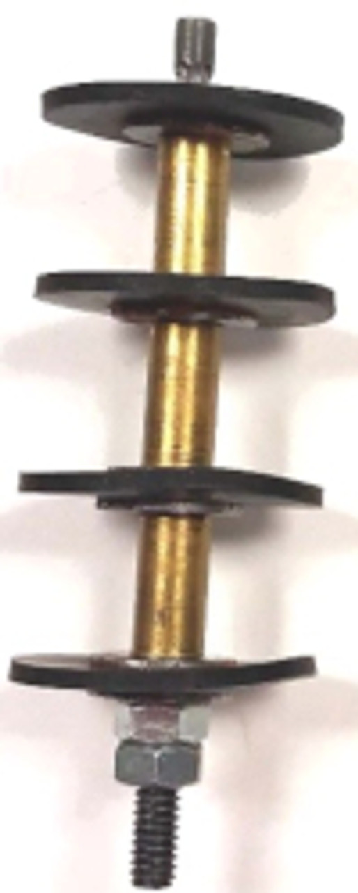 """Disc Stoppers are a fast, easy and economical method to stop the flow of gas when repairing service lines up to 4"""" in diameter. They can also be used to plug the ends of abandoned lines. Constructed of a steel shaft with reverse male threads on the stem end to attach a special T-Handle wrench to place the stopper at the desired location within the pipe. Four heavy rubber washers backed by steel plates, separated by spacing tubes provide the seal."""