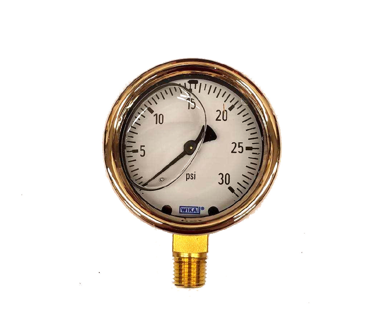0-30 psi liquid filled gauge