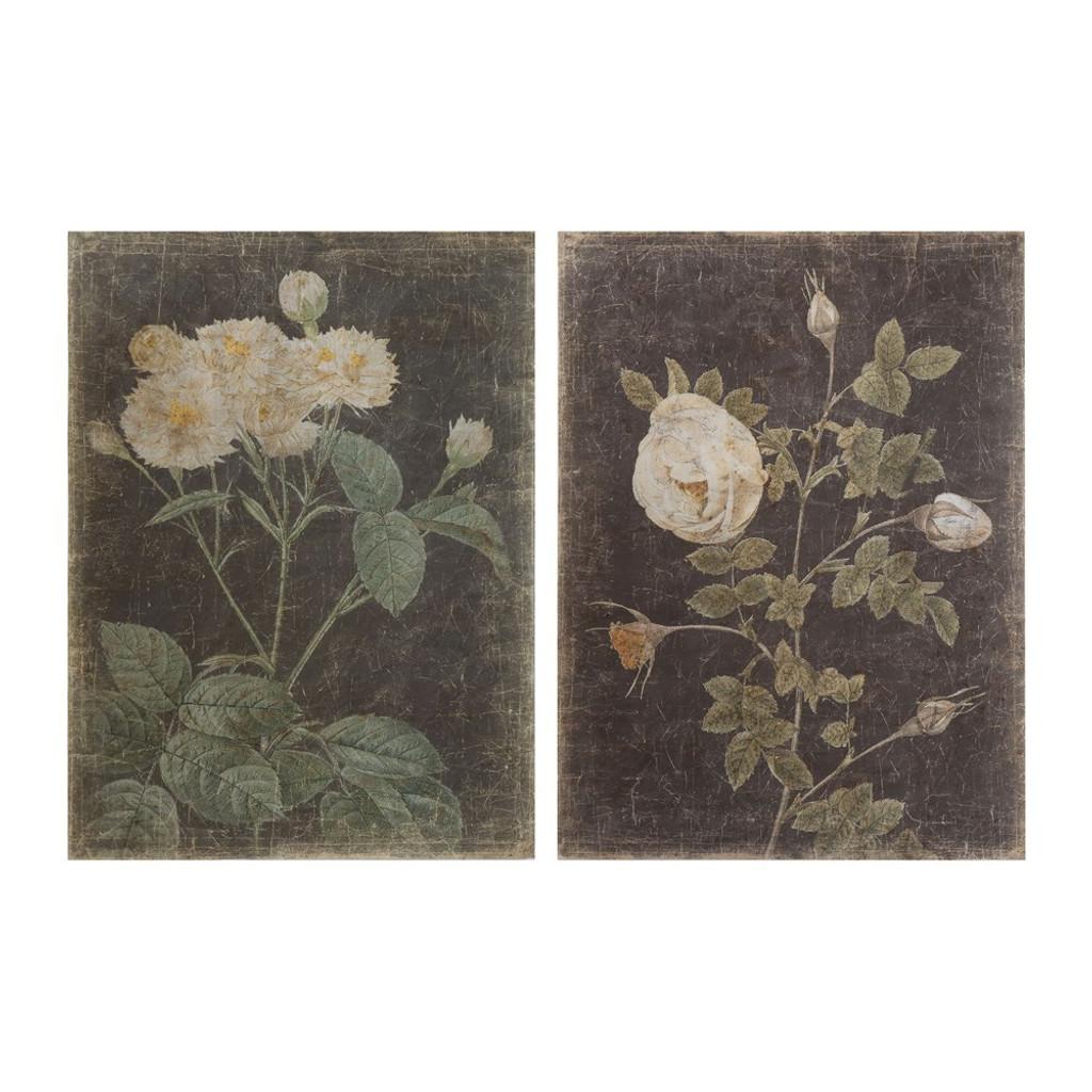Decorator Paper w/ Vintage Rose, Set of 2 (1 Left!)