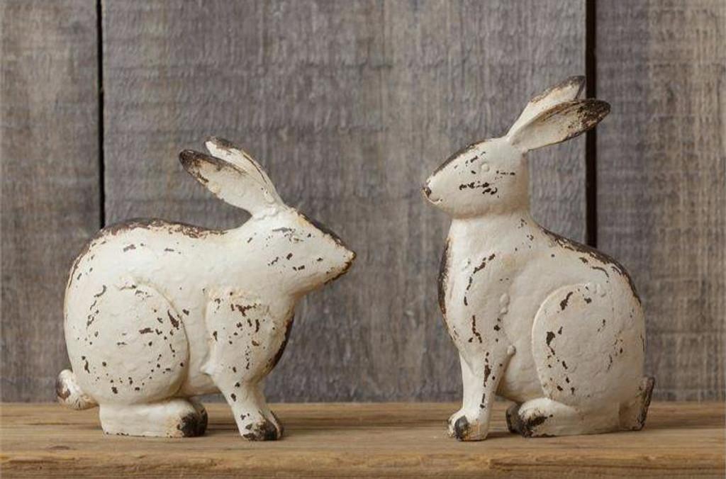 Sitting Tabletop Rabbit, Set of 2