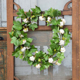 Green Cotton Wreath