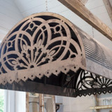 Aged Reproduction Tin Canopy with Lights