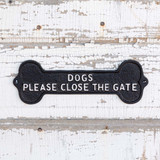 CLOSE THE GATE SIGN, SET OF 2