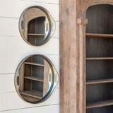Mirrored Bar Trays, Set of 2