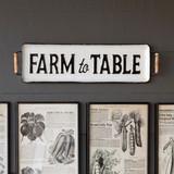 Farm to Table Metal Tray