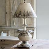 Metal Aged Urn Lamp