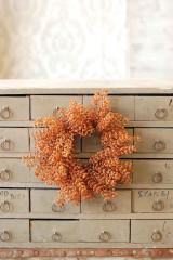 Bursting Astilbe Candle Ring | Pumpkin, Set of 2