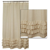 Country Ruffled Shower Curtain