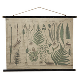 Botanical Rolled Antiqued Canvas Wall Decor