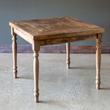 Reclaimed Wood Square Table