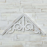 Wooden Architectural White Gable
