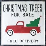 Christmas Tree For Sale Metal Sign