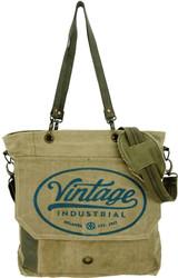 Vintage Industrial Crossbody/ Messenger Bag