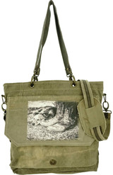 Dog with Boots Crossbody/ Messenger Bag