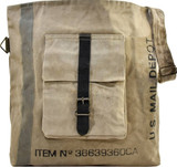 Unisex Recycled Military Tent Crossbody