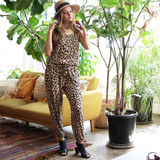Leopard Print Jumpsuit with Pockets