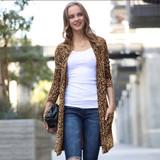 Leopard Print Cardigan w/pockets