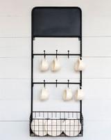 Bistro Chalkboard Wall Rack