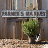 Metal Embossed Farmer's Market Sign