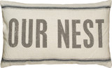 OUR NEST PILLOW / FEEDSACK FABRIC