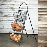 Standing Farmer's Market Wire Display Basket