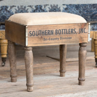 Wooden Bottle Crate Foot Stool