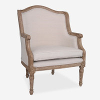Addison Linen Upholstered Chair (pick up only)