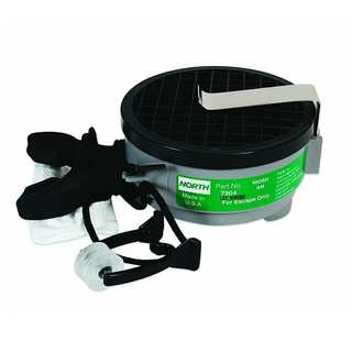 Honeywell 7904 North Silicone 7900 Series Mouthbit Acid Gas Air Purifying Respirator with Belt Clip
