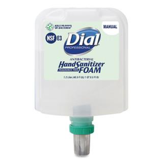 Dial 1700 Manual Refill Antibacterial Foam Hand Sanitizer, Fragrance-Free, 1.2 L, 3/Carton